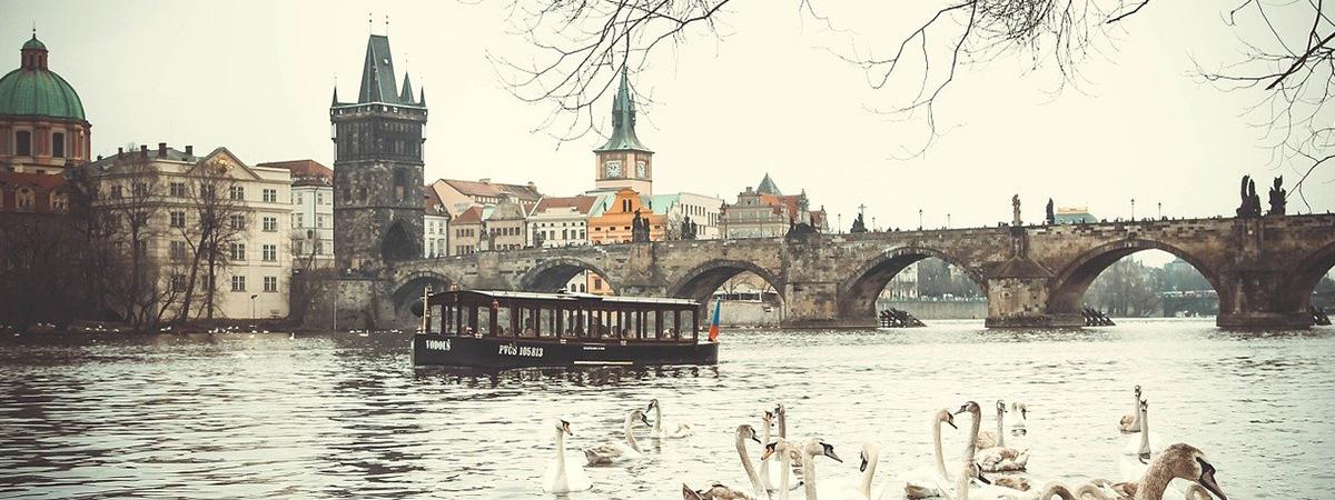 rotator Praha zima
